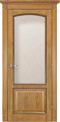 Дверь Венеция дуб рустик со стеклом