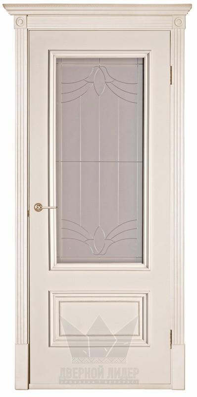 Дверь Эдинбург ваниль со стеклом