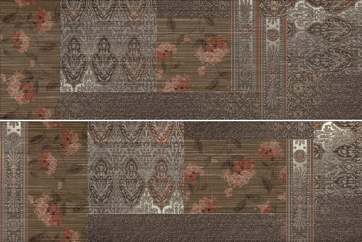 Керамическая Плитка Keraben Décor patchwork marron