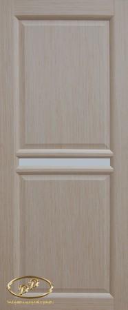 Дверь Рондо 3 дуб беленый витраж