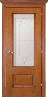 Дверь Эдинбург медовый дуб со стеклом