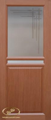 Дверь Рондо 4 орех витраж