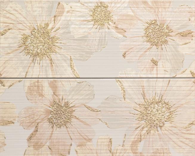 Керамическая Плитка Italon Блоу крим вставка фольедж