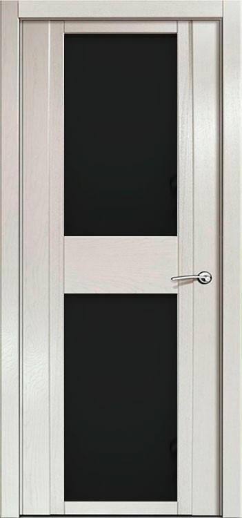 Дверь H - ii ясень жемчуг стекло черное
