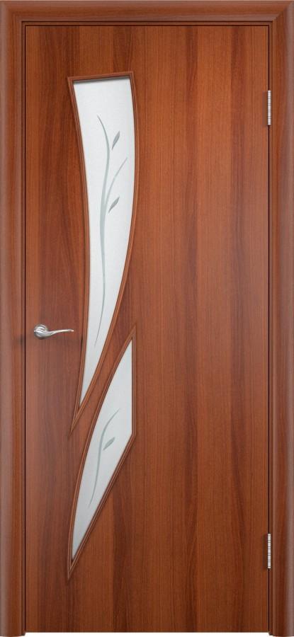 Дверь С-02 доф итальянский орех